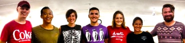 Left to right: Caleb, Ben K., Effy (leader), Ben H., Natalie, Courtney, Stephen (leader)